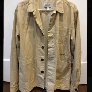 Linen button up jacket